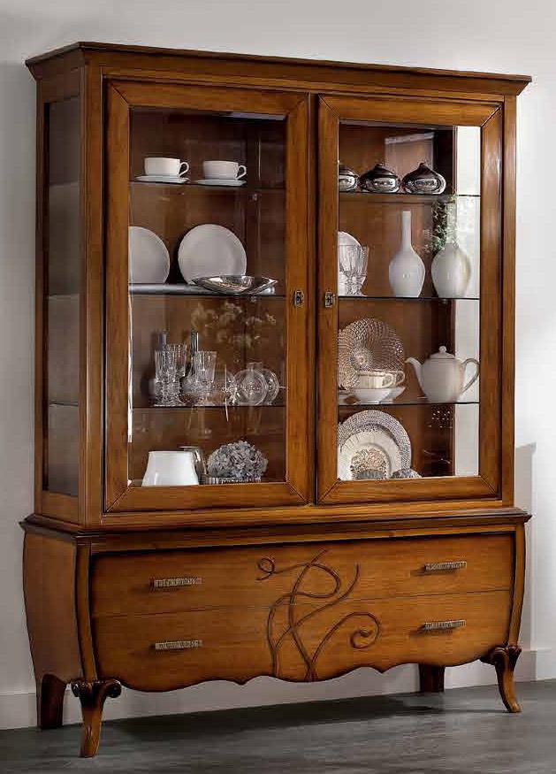 Vetrina classica in legno prodotti marchetti mobili - Mobili marchetti ...