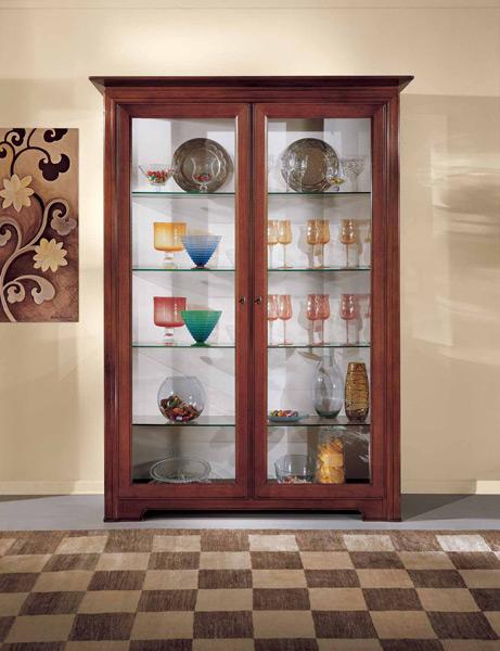 Vetrina a 2 porte con ripiani in cristallo prodotti marchetti mobili - Iva sui mobili ristrutturazione ...